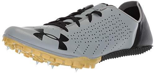Under Armour Unisex-Child Kick Sprint 2 Athletic Shoe, Steel (101)/Metallic Gold, 7