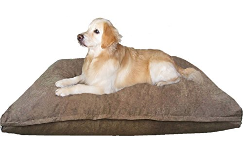 Dogbed4less Jumbo Orthopedic Extreme Comfort Memory Foam Pet Bed Pillow
