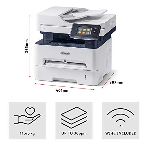 Xerox B215V_DNI S/W- láser Scanner copiadora Fax LAN WiFi, Gris, 36.2 x 40.1 x 36.5 cm