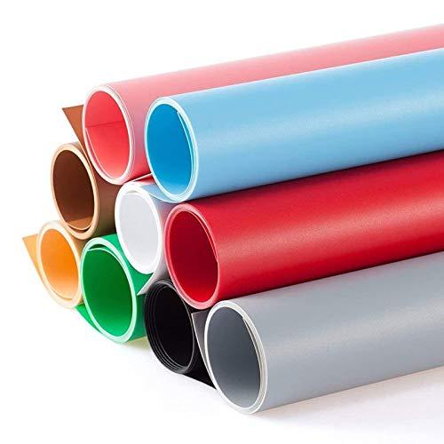 Selens PVC Telón de Fondo 60x130cm 9 Color Kit Set Background Backdrop Mate para Fotografía Fotos Estudio Fotográfico
