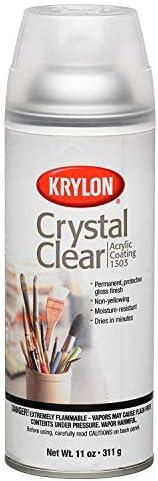 Krylon K01303007 Acrylic Spray Paint Crystal Clear in 11-Ounce Aerosol