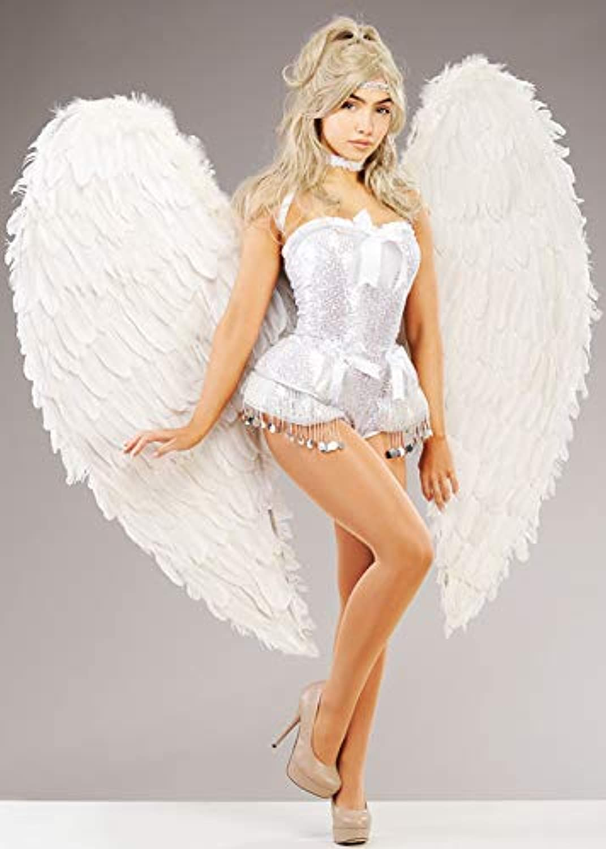 punto de venta de la marca Magic Box Impresionantes alas de de de ángel de Plumas blancoas Extra Grandes  el más barato