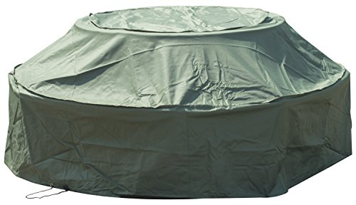 Woodside 8 Seater Round Outdoor Garden Picnic Table Cover 1.15m-1.8m x 0.5m-0.76m/3.8ft-5.9ft x 1.6ft-2.5ft