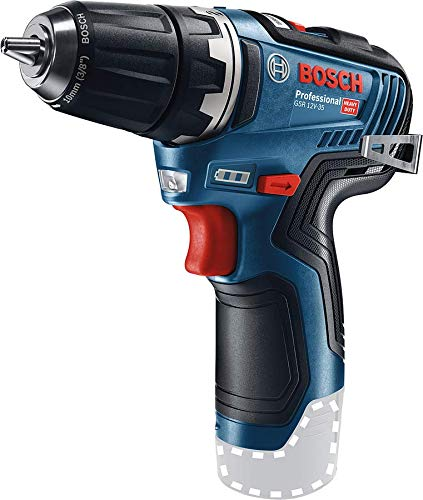 Bosch Professional 12V System GSR 12V-35 Cordless Drill/Driver (Without Rechargeable Battery and Charger, in Cardboard Box)