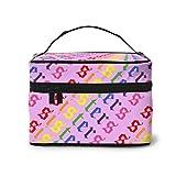 Jam-es Cha-rles Sisters Beauty Youtu-ber Makeup Train Case Carrying Portable Zip Travel Cosmetic Brush Bag Organizer Large For Girls Women