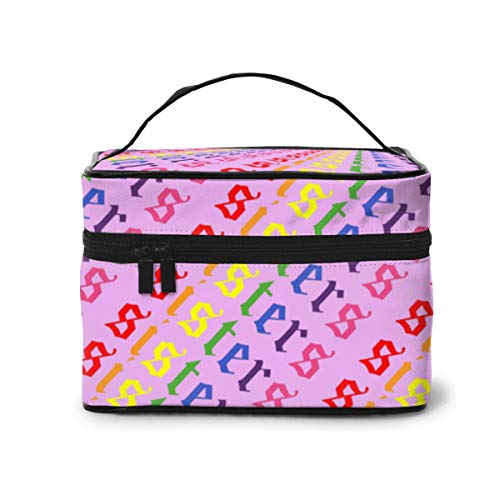 Jam-es Cha-rles Sisters Beauty Youtu-ber Makeup Train Case Carrying Portable Zip Travel Cosmetic Brush Bag Organizer Large For Girls Women