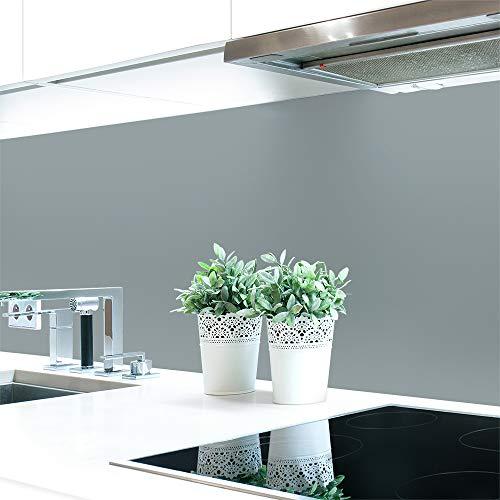 Küchenrückwand Grautöne 2 Unifarben Premium Hart-PVC 0,4 mm selbstklebend - Direkt auf die Fliesen, Größe:Materialprobe A4, Ral-Farben:Fenstergrau ~ RAL 7040