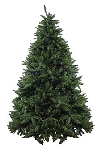 Preqù Italia Albero di Natale SUPERFOLTO Colore Verde FISHLAKE Rami ad Ombrello (180 cm)