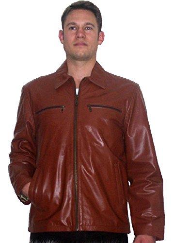 Fuente Leather Wears Lederjacke Herren Aniline Leder Vintage, Motorad, Biker, Western Lederjacke, Braun, Schwarz (XXL, Schwarz)