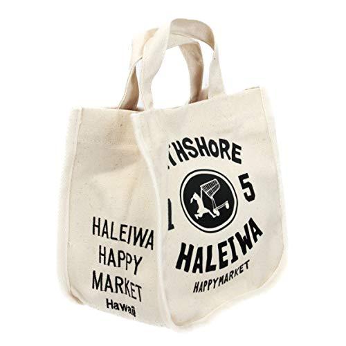 ハワイアン トートバッグ ハワイアン雑貨 ハレイワ HALEIWA ノースショア プリント ミニトートバッグ HLBG-1953 (アイボリー)
