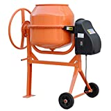 140L 550W Concrete Cement Power Mixers Electric Cement Mixing Portable Tools Drum Mortar