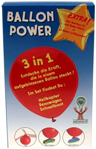 Kingdiscount 72 Stück Eco-Friendly Bausatz Ballon Power 3 in 1