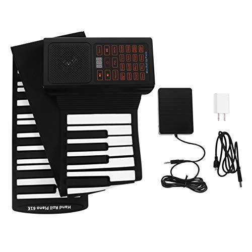 MILISTEN Piano Plegable Enrollar hasta 61 Teclas Piano Flexible Eléctrico Suave Digital Enrollar Teclado Piano Instrumento para Principiantes Niños Niño
