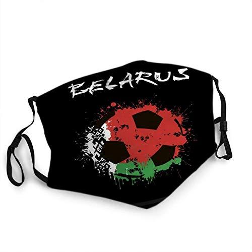 Herbruikbare gezicht schild mond Abstract voetbal Wit-Rusland vlag