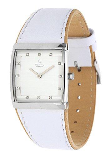 Obaku Harmony V102L CCRW - Reloj de Mujer de Cuarzo, Correa de Piel Color Blanco