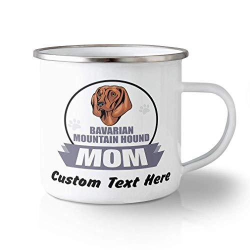 N\A Taza de Viaje irrompible Personalizada 11 onzas mamá Perro Sabueso de montaña bávaro Taza de té de Aluminio Texto Personalizado aquí