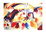 Paisaje con manchas rojas, Wassily Kandinsky Lienzo Impresión Pintura póster Reproducción Cuadros Decoracion Salon Lienzos Decorativos Cuadro Sobre Lienzo (50x70cm (19.7x27.6in), Sin Marco)