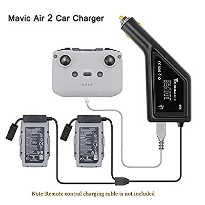 STARTRC Mavic Air 2 Car Charger, 3in1 Intelligent Battery Charger for DJI Mavic Air 2 Accessories?Charge 2 Batteries &Remote Controller?