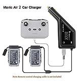 STARTRC Caricabatterie per Auto Mavic Air 2, Caricabatterie Intelligente 3 in 1 per Accessori DJI Mavic Air 2 (Carica 2 batterie nel Telecomando)