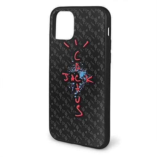 GBEBFA Travis Scott - Cactus Jack Compatible with iPhone 12/12 Pro MAX Mini 6/6s Plus 7/8 Plus/SE 2020 X/XS XR 11 Pro MAX Phone Cases Cover-Black