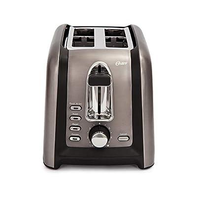 Oster TSSTTRGM2L Black Stainless Toaster (Renewed)