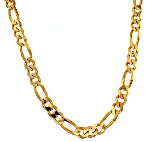 Collar de Fígaro Tendenze de oro de 18 quilates, 13 mm, longitud a elegir, directamente de la fábrica italiana