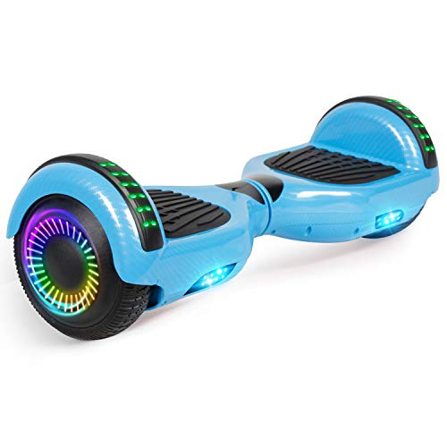 FLYING-ANT Hoverboard w/Bluetooth Speaker Electric Self Balancing Scooter 6.5' Two LED Light Wheels UL2272 Certified Outdoor Sports Easy to Begin Great Gift for Adult Children