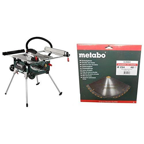 Metabo TS 254 - 2.0 Kw - Ø 250 mm - Sierra Circular de mesa portátil , disco 250 mm + Metabo - Hoja sierra metal duro hw-ct 254x30mm 48wz