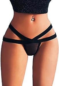 Señoras Mujer de Malla Sexy Bragas Correas Caen Encaje Transparente Atractivo Tanga Picardias Esposas erotico Conjuntos Pijamas Dormir Babydoll riou