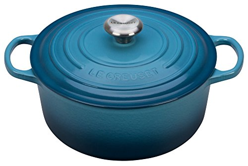 Le Creuset LS2501-266MSS Signature Enameled Cast-Iron Round French (Dutch) Oven, 5-1/2-Quart, Marine