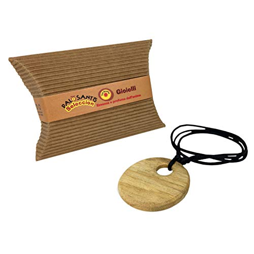 Ciondolo in legno Palo Santo - Modello Sol artigianale - Ciondolo profumato ideale per Aromaterapia - Profumo rilassante che dona armonia ed energia positiva