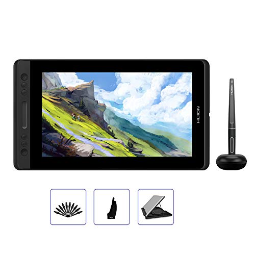 HUION Kamvas Pro 12 GT-116 Drawing Tablet with Full Laminated Screen 11.6inch Pen Display Graphics Monitor Tablet with Battery-Free Pen 8192 Pressure Sensitivity Tilt Function Touch Bar (with Stand)