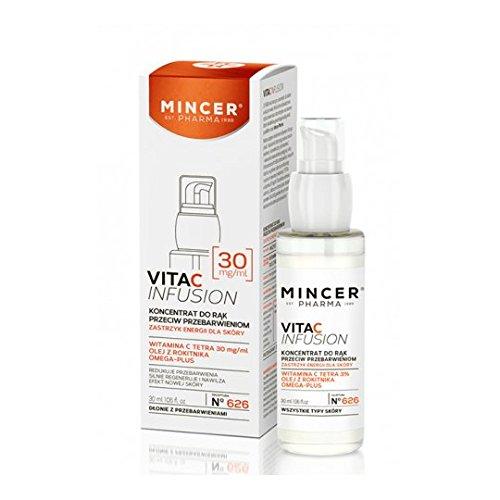 Mincer pharmaceutique Vita C Infusion Concentré d'éclaircissement de crème pour les mains avec Vitamine C contre Hyper-pigmentation, âge Les Taches de c Tetra 3% 30 ml