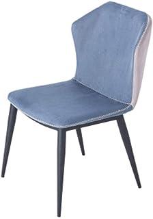 BTTNW Sillas De Cocina Hogar Franela Silla de Comedor Simple Silla Respaldo for la Sala de Estar y Comedor Sillas de Comedor (Color : Azul, Size : 50x48x85cm)