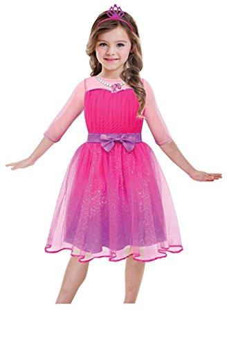 amscan 999549 - Traje Nio princesa Barbie para las nias de 5-7 aos de edad, 116