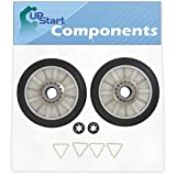 2 Pieces 349241T Dryer Drum Roller Replacement for Roper RGX4635EN1 Dryer - Compatible with 3397590 Rear Drum Support Roller - UpStart Components Brand