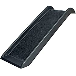 Good Life Black Non-Skid Pet Ramp Ladder Small to Large Dogs Cats, Plastic Supports