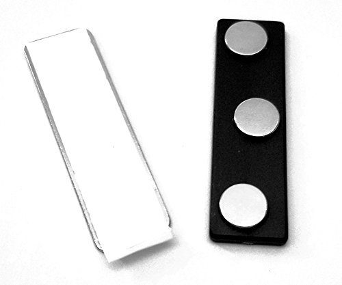 200 Sets Super Strong 2 Piece Triple Magnet Fastener with easy peel Tab and Strong Adhesive Back for Name Tags and Identification Badges
