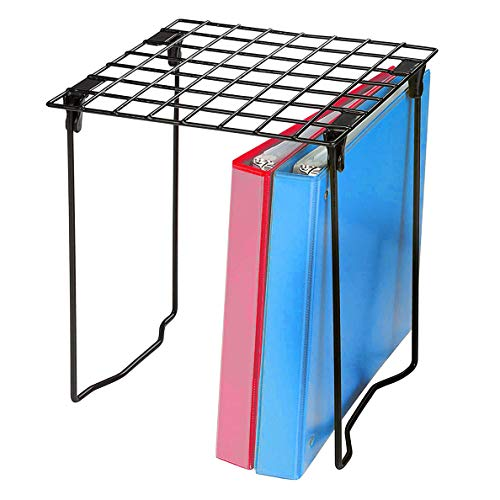 Mind Reader BORGLOCK-BLK Freestanding, 12.5 Inch Wire Shelf, Accessories Shelving Unit, Foldable, Portable, Ideal for School, Work and Gym Lockers. Holds up to 30 pounds, Black Metal