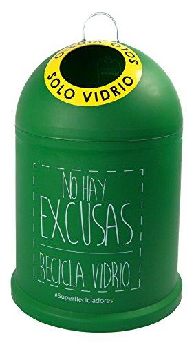Miniglú NO HAY EXCUSAS, Contenedor de botellas de vidrio 45x29 cm