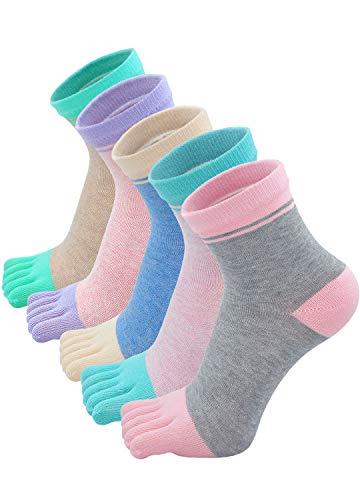 PUTUO Calcetines de Dedos Mujer Calcetines Cinco Dedos de Deporte, Mujer...