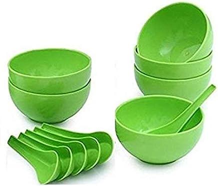 Accurrate Microsafe Soup Bowl Set (6 Bowls + 6 Spoons)