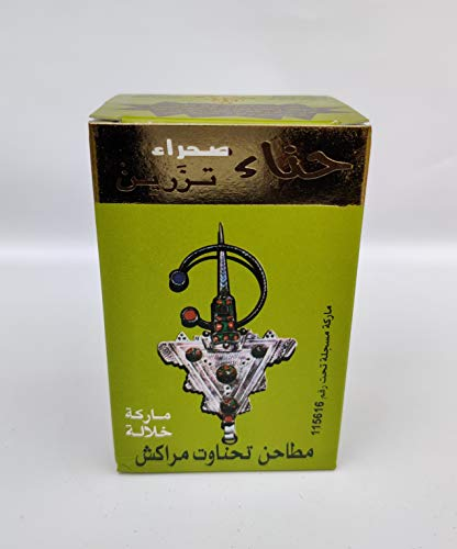 HENNE Naturale 100% PURO Lawsonia inermis - Colorazione Capelli HENNA SAHARA TAZARINE - Scatola VERDE