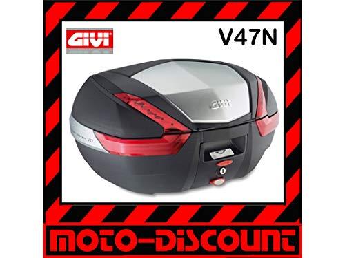 Givi V47 Monokey Topcase met aluminium scherm en rode reflectoren