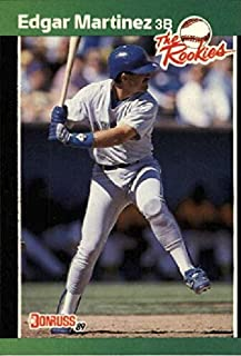 1989 Donruss - Edgar Martinez - The Rookies - Seattle Mariners Baseball Rookie Card RC #15