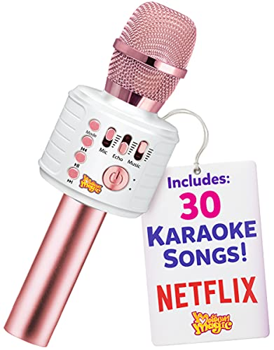 Move2Play Bluetooth Plus 30 Songs Karaoke Microphone, Gift for Girls Age 4 5 6 7 8 Years Old
