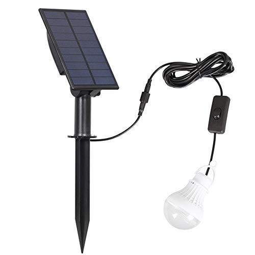 Sebasty Uno Aire Libre Solar Portable For Una Bombilla LED IP65 Impermeable De La Luz De Emergencia De Reparación Inicio De Proyección De La Lámpara De Iluminación Cabina De Camping