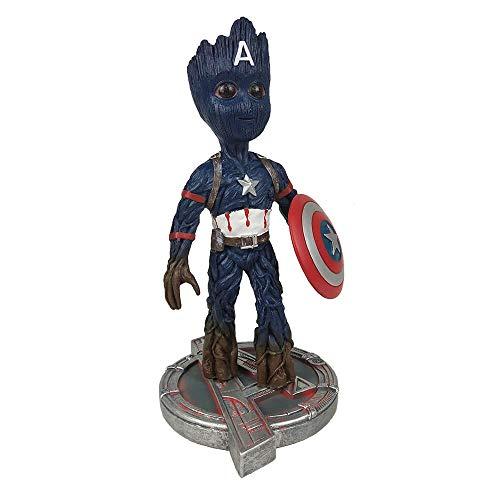 YHK Avengers Infinity War - Groot Cosplay Hulk Helmeted Gladiator Figure,Groot Figure Toy Guardians of the Galaxy Boy Gift (Groot - Captain America)