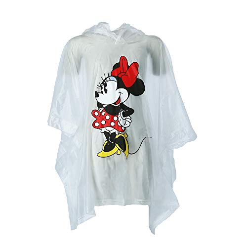 Jerry Leigh Disney Kid's Classic Minnie Mouse Rain Poncho, Clear