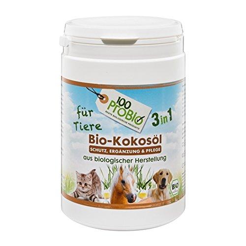 100ProBio Olio di cocco per animali, puro naturale, senza sostanze chimiche, per cani,...